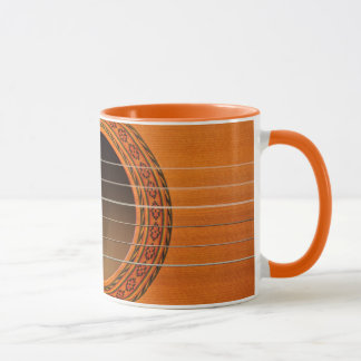 Classical guitar orange tan mug