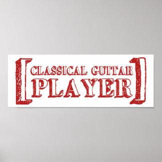 Classical Guitar Player Poster