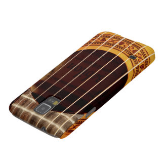Classical guitar strings, sound hole detail photo galaxy s5 covers