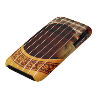 Classical guitar strings, sound hole detail photo iPhone 3 Case-Mate case
