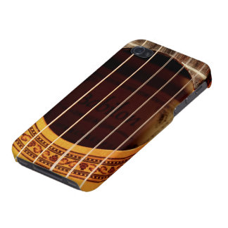 Classical guitar strings, sound hole detail photo iPhone 4 cover