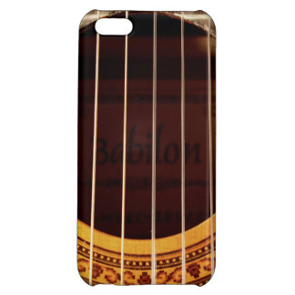 Classical guitar strings, sound hole detail photo iPhone 5C case