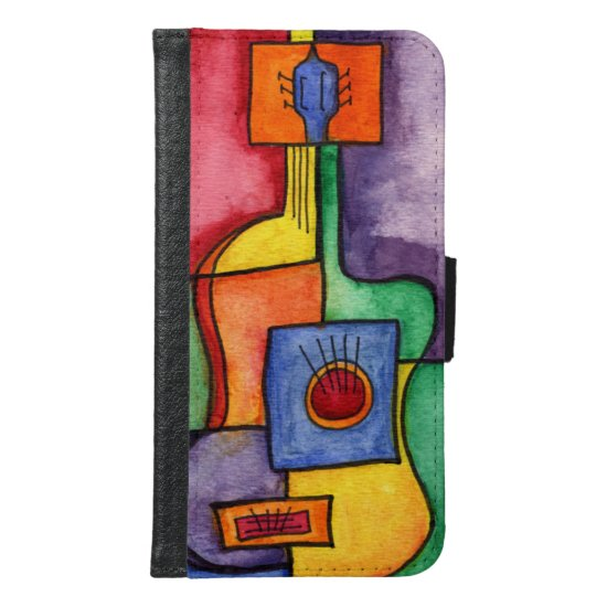 Classical Guitar Wallet Phone Case For Samsung Galaxy S6
