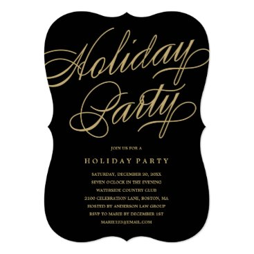 Professional Business Classical Holiday Party Card