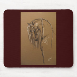 Classical Horse Drawing Mouse Pad