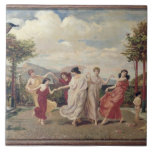 Classical Idyll (oil on canvas) Ceramic Tile