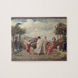 Classical Idyll (oil on canvas) Jigsaw Puzzle