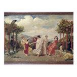 Classical Idyll (oil on canvas) Postcard