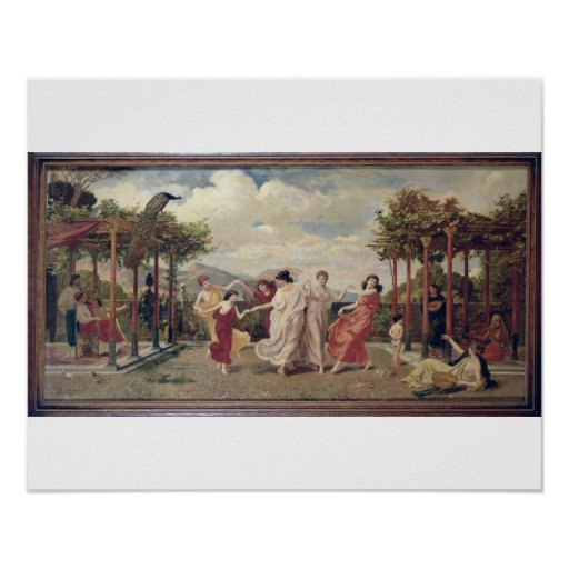 Classical Idyll (oil on canvas) Poster