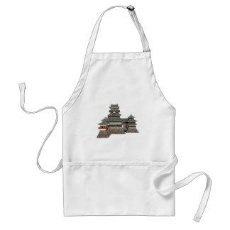 Classical Japanese Castle Adult Apron