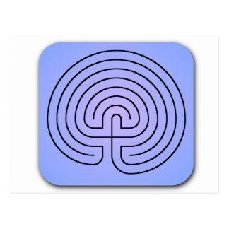 Classical Labyrinth Postcard