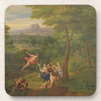 Classical Landscape with Mercury Overseeing the Bi Drink Coaster