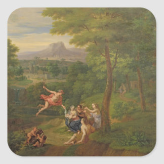 Classical Landscape with Mercury Overseeing the Bi Square Sticker