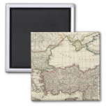 Classical Map of Rome 2 Inch Square Magnet