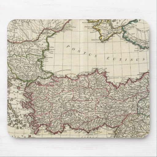 Classical Map of Rome Mouse Pad