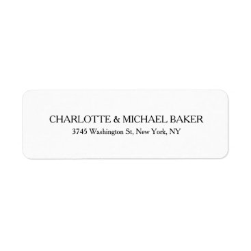 Professional Business Classical Minimalist Plain Modern Family Name Label