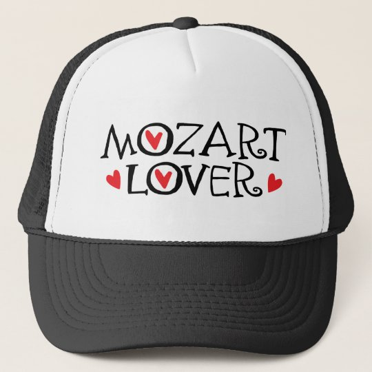 Classical Mozart Lover Gift Trucker Hat