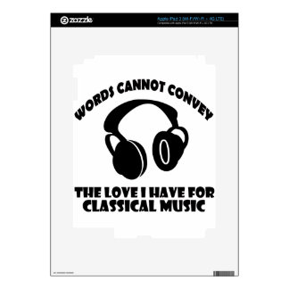 Classical Music designs iPad 3 Decals
