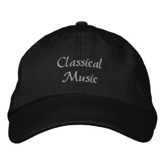 Classical Music Embroidered Baseball Cap