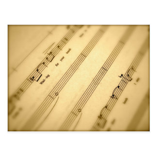 Classical Music Gifts and Music Cards Postcard