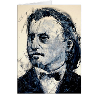 Classical Music Greeting Card - Brahms (Young)