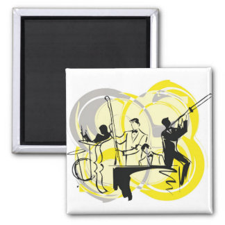 classical music illustration 2 inch square magnet