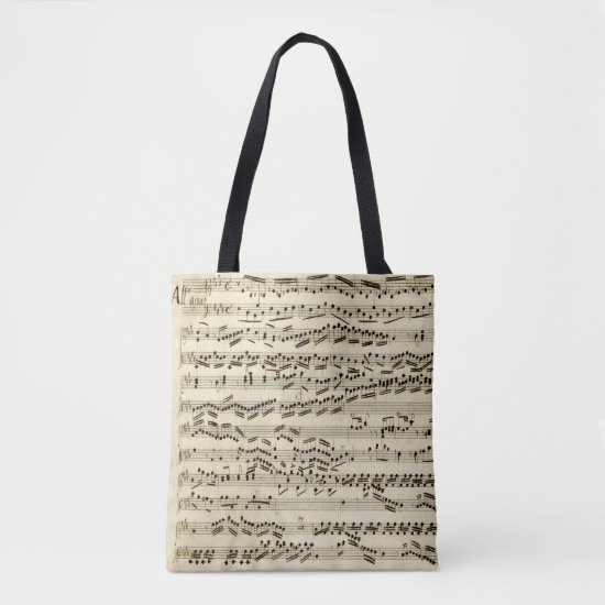 Classical Music Manuscript with clefs signatures Tote Bag
