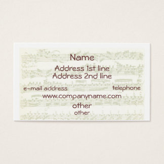 Classical Musician Business Card