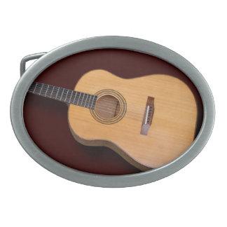 Classical or Folk Guitar Oval Belt Buckle