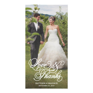 Classical Overlay | Wedding Thank You Photo Card