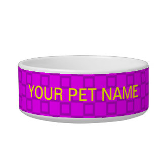 Classical pink and purple Pet Bowl