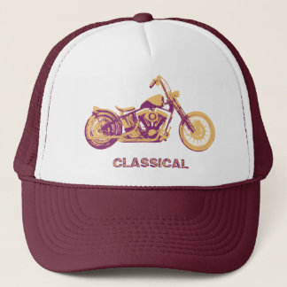 Classical -purp trucker hat