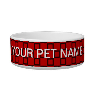 Classical red and black Pet Bowl