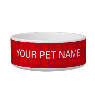 Classical red and purple Pet Bowl