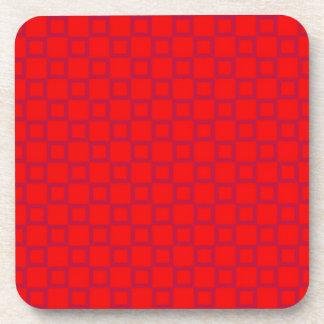 Classical red purple Cork Coaster