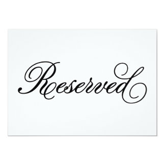 Classical | Reserved Wedding Sign Card