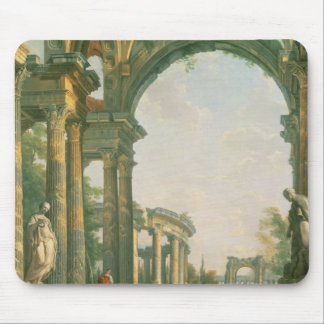 Classical ruins, 18th century mouse pad