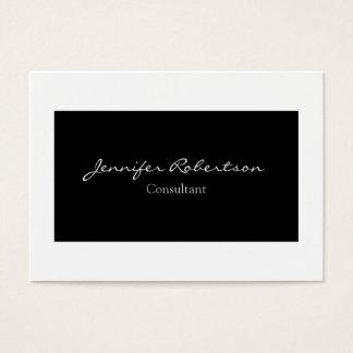 Classical Simple Black White Plain Unique Business Card