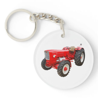 Classical tractor Güldner Keychain