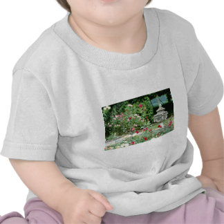 Classical Urn With Roses In Foreground flowers Tshirts