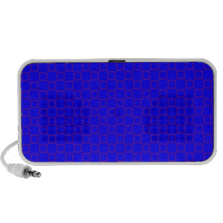 Classical vibrant blue with purple Doodle Speakers