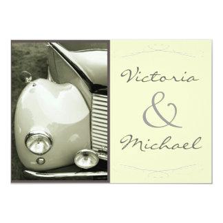 Classical Vintage Motor Wedding Custom Invitation