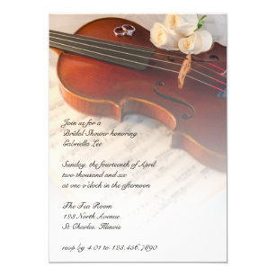 Orchestra Bridal Shower Invitations | Zazzle