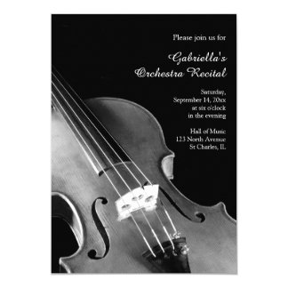 Classical Violin Orchestra Recital Invitation