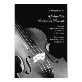 Classical Violin Orchestra Recital Invitations