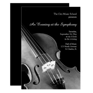 Classical Violin Symphony Recital Invitations