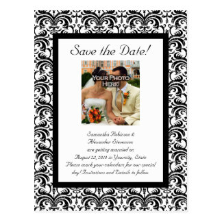 Classical Wedding Save the Date Postcard