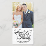 """Classical   Wedding Thank You Photo Card<br><div class=""""desc"""">Photographs provided courtesy of &#169;Blush Photography    For more colors and styles visit our shop!</div>"""
