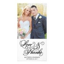 Classical | Wedding Thank You Photo Card