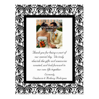 Classical Wedding Thank You Postcard